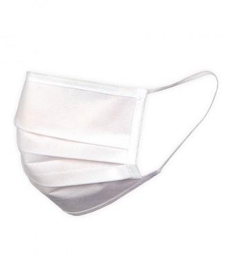Máscara Social Branca Reutilizável (10 Unid.)